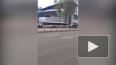 На проспекте Испытателей черный джип объехал пробку ...