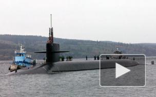 У берегов США атомная подводная лодка США столкнулась с кораблем