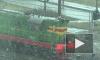 Появилось видео аномального апрельского снега в Петербурге