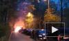 Ночью в Невском районе сгорели два автомобиля