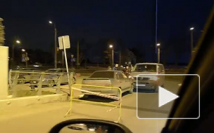 ДТП при выезде из гипермаркета