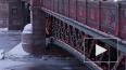 Дворцовый мост покраснел на китайский Новый год
