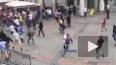 Появилось видео столкновений фанатов сборных Украины ...
