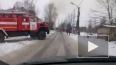 Появилось видео охваченного огнем дома в Любани