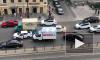 На Лиговском проспекте из-за аварии образовалась километровая пробка