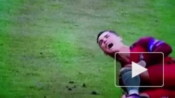 Роналду получил травму во время финала Евро-2016