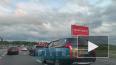 На Пулковском шоссе перевернулся автомобиль