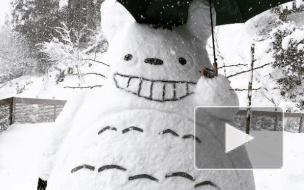Снежные герои аниме заполнили Японию после аномальных снегопадов