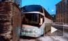 Появилось видео: вНевском районе туристический автобус влетелв кирпичную пристройку