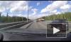 Массовое ДТП на КАД: водителю удалось проскочить между двумя столкнувшимися машинами