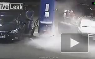 В Болгарии работник АЗС проучил курильщика огнетушителем