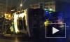 Видео: на Полюстровском проспекте перевернулся КамАЗ