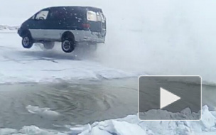 Загадали желание у золотой рыбки: якутские рыбаки научили прыгать автомобиль — видео