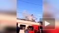 18+: Гибель зацепера на крыше электрички попала на видео