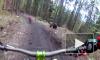 Ужасающее видео из Словакии: медведь устроил погоню за велосипедистом
