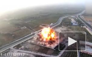 Видео: дрон снял теракт с участием смертников
