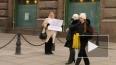 Одинокая женщина Петербурга встала на защиту Навального