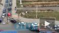 "Видео: на въезде в Кудрово столкнулись ""БМВ"" и ""Мерседес..."