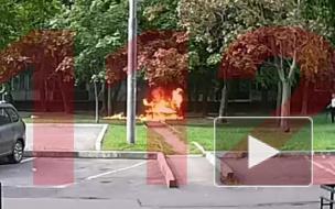 Москвич облил бензином и поджег мужчину во дворе дома