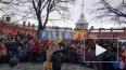 В Петропавловской крепости сожгли Масленицу (видео)