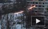 Горящий провод электропередач упал во дворе на Славы