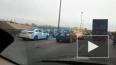 Видео: авария на КАД стала причиной большой пробки