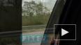 """Видео: на Выборгском шоссе """"девятка"""" попала под самосвал"""