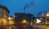 На Невском проспекте полыхал строительный кран