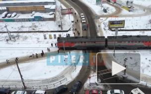 Авария поезда и маршрутки