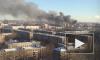 На Обуховской обороны горят два здания, у одного рухнула крыша