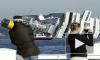 На острове Джильо, где затонула Costa Concordia, туристы устраивают пикники