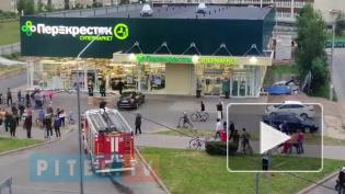 """В Пушкине черная """"Ауди"""" влетелав кассы магазина"""
