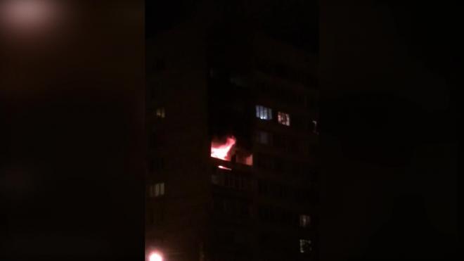 Ночью на Большой Пороховской улице тушили трехкомнатную квартиру