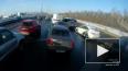 Видео: на Мурманском шоссе столкнулись несколько машин