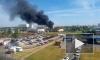 Очевидцы: На Софийской горит ангар