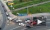 Видео: из-за ДТП образовалась огромная пробка при въезде в Кудрово