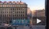 Видео: в Петроградском районе пожар