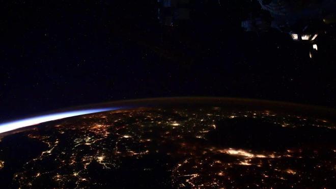 Петербургский космонавт показал, как Европа и Россия выглядят из космоса
