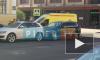 На Звенигородской авария: столкнулись три внедорожника