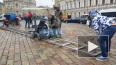 Видео: около Дворцовой площади проходят съемки фильма ...