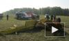 """В челябинском аэропорту """"Калачево"""" упал спортивный самолет, выполнявший фигуру высшего пилотажа, пилот погиб"""