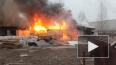 Пожар в автосервисе на Дальневосточном тушили 78 человек