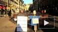 ЛГБТ-активисты вышли протестовать на Невский проспект
