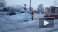 На Выборгском шоссе на трамвайных путях застрял автомобиль ...