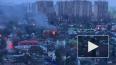 """Около станции метро """"Девяткино"""" загорелся жилой дом"""