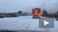 В Московском районе горят бытовки на стройплощадке