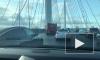 Видео: три автомобиля столкнулись на ЗСД у Васильевского острова