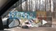 На Петрозаводском шоссе загорелся мусоровоз