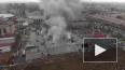 """Пожар в гипермаркете """"Лента"""": видео с воздуха"""