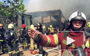 В горящем здании на Черняховского находились газовые баллоны